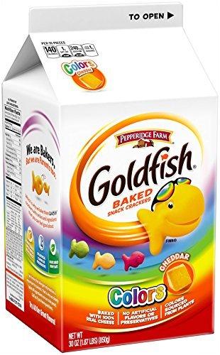 Pepperidge Farm Goldfish, Colors, 30-ounce carton