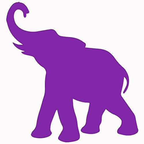 "Primary image for ELEPHANT V1 Vinyl Decal by stickerdad - size: 5"", color: PURPLE - Windows, Walls"