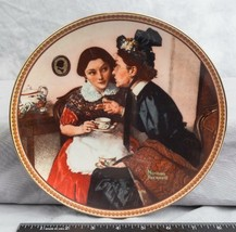 """Knowles Norman Rockwell Collectible Plate """"Gossiping In The Alcove""""  jds - $9.89"""