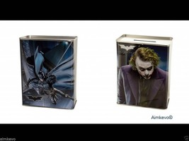 The Dark Knight Movie Batman The Joker Piggy Bank Sturdy Tin Coin Bank - $5.95