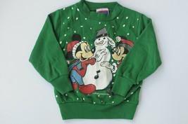 Vtg Disney Mickey's Stuff For Kids Sweatshirt Pullover Green Minnie USA ... - $25.00