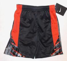 Nike Boys Athletic Shorts Black Gray Red Size 4 NWT - $12.99