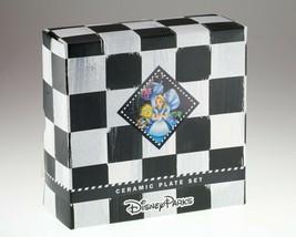 Disney Parcs Alice En Pays Merveilleux Set 4 Céramique Plaques Original ... - $148.58