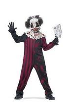 Childrens Killer Clown Circus Creepy Scary Kill Halloween Costume M-Xl 00398 - $29.99