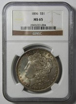 1896 MORGAN SILVER DOLLAR COIN MS65 NGC Lot# SR 1136