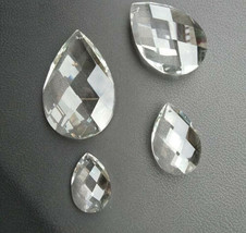 10Pcs 38/50/63/76mm Octagon Crystal Glass Prism Glass Bead Chandelier Chain Part - $12.07+