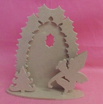 Christmas fairy Door Craft blank 4mm mdf at 150mm tall - $3.02