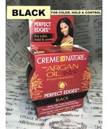 Creme of Nature PERFECT EDGES EDGE CONTROL BLACK COVERS GRAY ROOTS 2.25 oz - $6.52