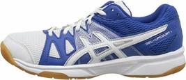 ASICS B45AQ Women's GEL-Upcourt Volleyball Shoe, White/Royal/White - Size 11 - $64.35