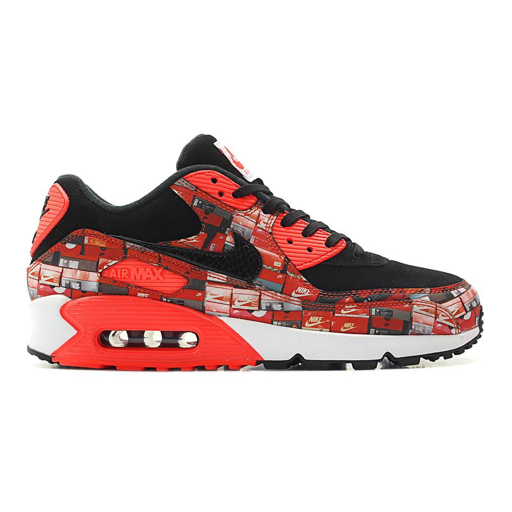 brand new 876ca 3e495 Nike x atmos air max 90 print we love nike pack black bright crimson white  aq0926