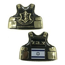 "2.5"" ISRAEL SECURITY FORCES BODY ARMOR CHALLENGE COIN - $23.74"