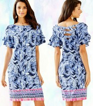 Lilly Pulitzer Dianna High Tide Navy Yours The Zest Engineered Jersey Dress - $116.99