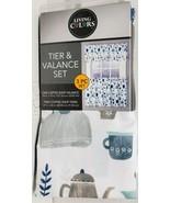 "3 pc. Kitchen Curtains Set: 2 Tiers (27""x36"") & Valance (54""x13"") COFFEE... - $23.75"