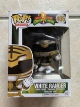 Funko Pop Power Rangers White Ranger 405 Vaulted w/ Pop Protector Authen... - $51.41