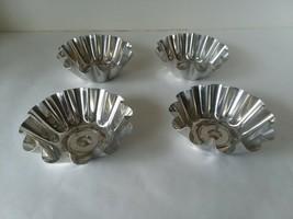 4 Aluminum Baking Molds Jello Tart Cake Tins Pans - $7.91