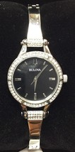 Bulova 96L259 Women's Crystal Studded Bangle Watch - $49.49