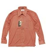 Vintage Deadstock 1970's Disco Button Shirt Size L Burma Cassini L/S Hou... - $44.99