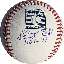 Rare Bobby Cox Autographed Hall of Fame Logo Official Major League Baseb... - $71.11