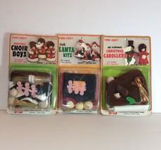 Fibre Craft Christmas Ornament Kit Lot Choir Bo... - $29.07