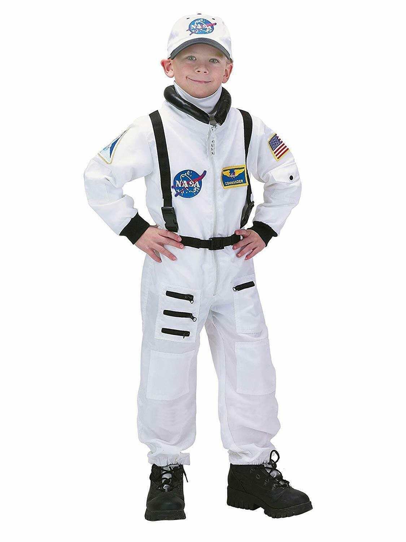Charades Astronauta Volo Abito Nasa Bianco Bambini Costume Halloween CH00210