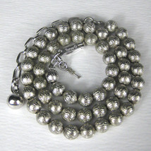 Crown Trifari Necklace Silvertone 14 Inch Signed Hang tag Vintage 1950 Choker  - $44.54