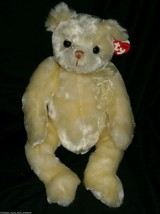 "16"" Vintage 1999 Yesterbear Creme Ivory Teddy Bear Ty Stuffed Animal Plush Toy - $18.70"
