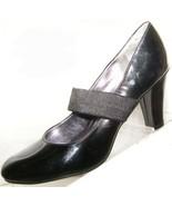 Women's Size 9 Med * NO BOUNDARIES Cross Over Strap Black High Heel Pump... - $4.00