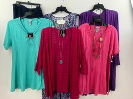 Catherines Cardigan Top Jewelry Skirt Dress Womens 0X Mixed Lot of 10 NW... - $125.99