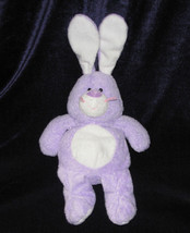 TY PLUFFIES TWITCHES PURPLE BUNNY RABBIT STUFFED ANIMAL PLUSH TOY 2006 E... - $14.84