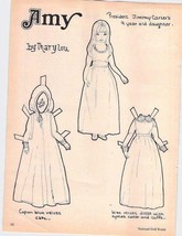 Paper Doll, Uncut with Clothes, Amy, National Doll World 1973, Inv0514, - $5.94
