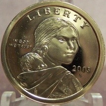 2005-S Proof Sacagawea Dollar DCAM PF65 #0310 - $4.79