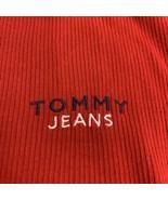 Men's Vintage 90s Tommy Jeans Tommy Hilfiger V Neck Shirt XL Red Embroid... - $27.72