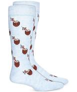 Mens Novelty Socks Coconut Drinks Light Blue BAR III $10 - NWT - $3.95