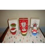 Hallmark 2010 & 2014 Sweet Surprise & 2019 LE Christmas Cupcakes Ornaments - $32.99