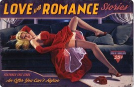 Love and Romance  / Pin Up Metal Sign Greg Hildebrandt - $29.95