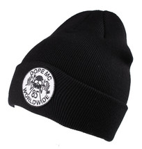 Dope Couture Black MC Motor Cycle Patch Beanie