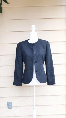 Giorgio Armani 100% Wool  Grey Jacket Sz 6 ARMANI VINTAGE 80s