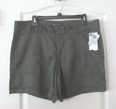 Lee Mid Rise Pork Chop Pocket Tencel Shorts MOSS Women's Sz 14M NWT MSRP$44 - $24.75