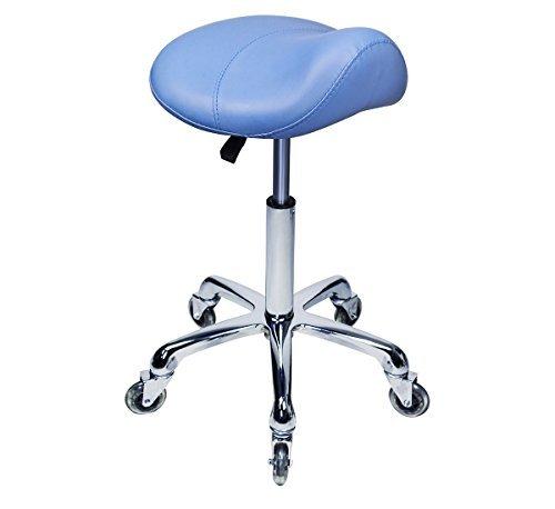 Saddle Stool Rolling Desk Swivel Chair For Dental Office