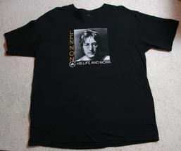 Beatles John Lennon Rock & Roll Hall of Fame Exhibit T-shirt, XL - $22.00