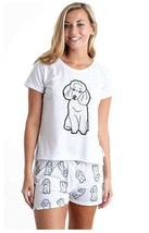 Dog White Poodle pajama set with shorts for women - $30.00