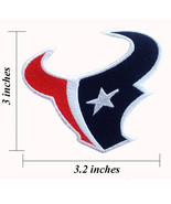Houston Texans Left Facing Embroidered Iron On Patches - $1.20