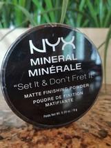 NYX Mineral SET IT & DON'T FRET IT Matte Finishing Face Powder LIGHT MED... - $10.32