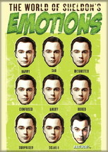 The Big Bang Theory The World of Sheldon's Emotions Magnet, NEW UNUSED - $4.99
