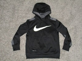 Nike Dri-Fit Hoodie, Youth Small, Black & Gray - $13.36