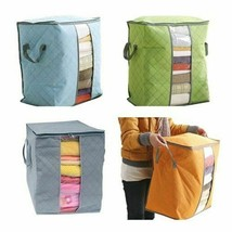 Portable Cotton Quilt Storage Bags Foldable Anti Dust Compressed Clothe... - £8.82 GBP
