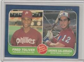 1986 Fleer  #647 Freddie Toliver, Andres Galarraga  RC Rookie - $1.05