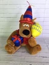 Scooby Doo Dog Happy Birthday Plush Stuffed Animal Doll Warner Bros Stud... - $30.84