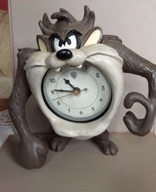 Extremely Rare! Looney Tunes Taz Tasmanian Devil Table Clock Figurine St... - $178.50