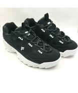 FILA Women's D-Formation Retro Sneakers White Black NEW - $40.32